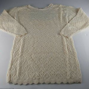 VTG Two Twenty Ivory Pullover Sweater Size Small